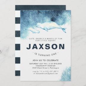 Baby Beluga | Birthday Party Invitation
