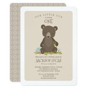 Baby Boy Little Cub Child's Birthday Party Card