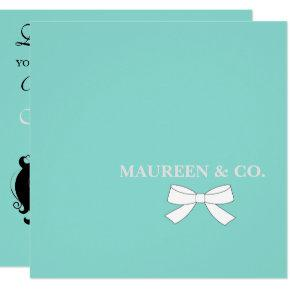 BABY & Co Teal Blue Baby Shower Party Invitation