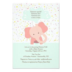 Baby Elephant Shower Invitations