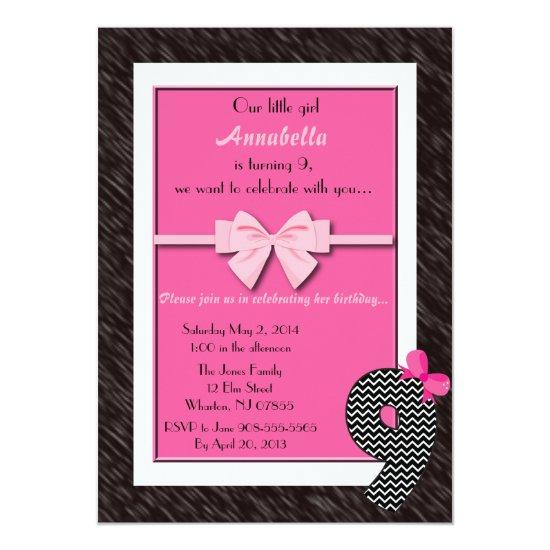 Baby girls 9th birthday invitations candied clouds baby girls 9th birthday invitations filmwisefo
