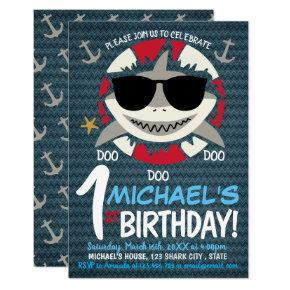 Baby Shark Birthday Party | 1ST Birthday Invitation