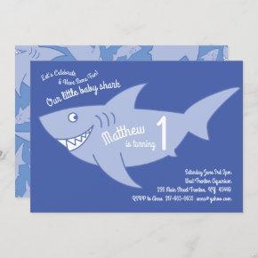 Baby Shark Ocean Animals 1st Birthday
