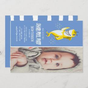 Baby Shark Pool Birthday Party Invitation