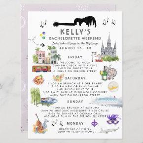 Bachelorette Weekend Itinerary | New Orleans Invitation