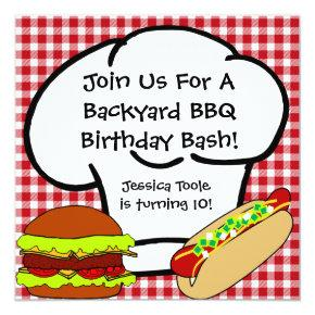 Backyard BBQ Birthday Invitations