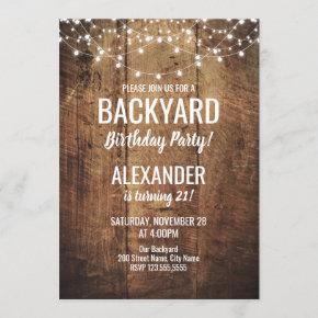 Backyard Birthday Invitation