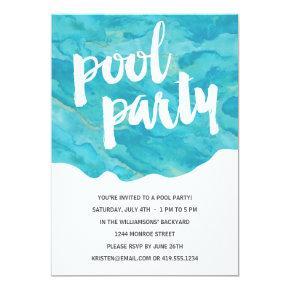 Backyard Splash | Pool Party Invitations