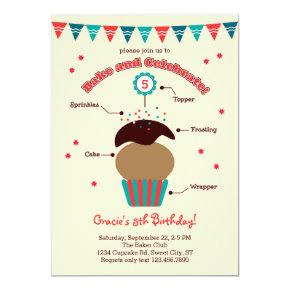 Bake and Celebrate Birthday Invitation