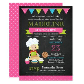 Baking Birthday | Cake Decorating Birthday Invitation