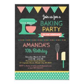 Baking Birthday Invitation