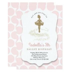 Ballerina / Ballet Themed for Girls Birthday Party Invitation