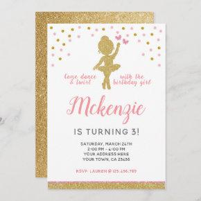 Ballerina Birthday Invitation