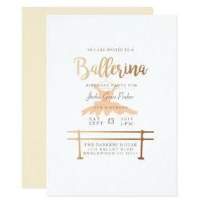 Ballerina Birthday Party Invite