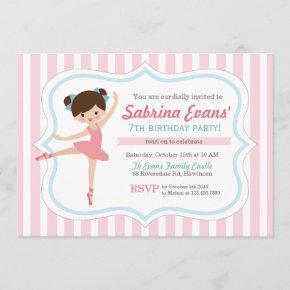 Ballerina Invitation / Ballet Invitation
