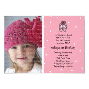 Ballerina Slippers Photo Invitations or Thank You