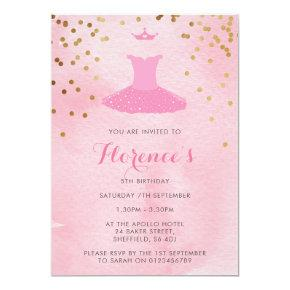 Ballerina themed birthday party invitation