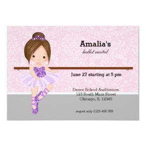 Ballet Recital Invitation