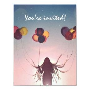 Balloon Birthday Custom Invitation