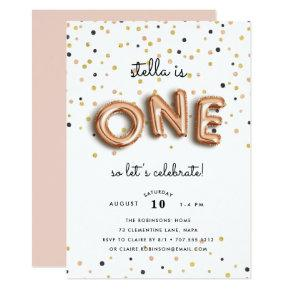 Balloon Type | First Birthday Party Invitation