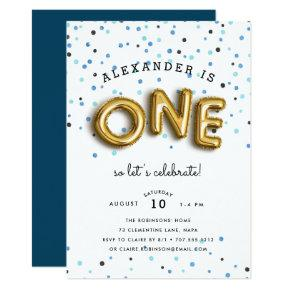 Balloon Type | First Birthday Party Invitations