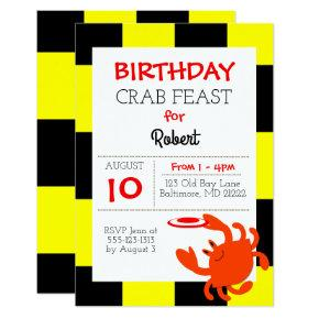 Baltimore Crab Nautical All Occasion Invitation