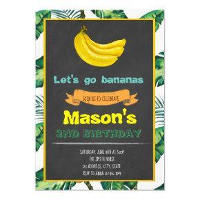 Bananas Birthday party invitation
