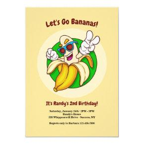 Bananas Character Birthday Party Invitation