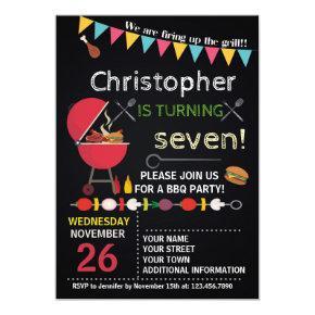 BARBECUE BIRTHDAY Invitations ANYONE