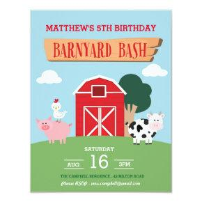 Barnyard Bash Invitations