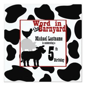 Barnyard Birthday Party Invitations