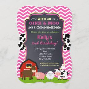 Barnyard Birthday Party  for Girl