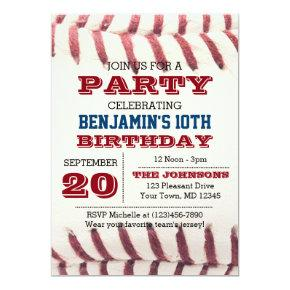 Baseball Birthday All Occasion Invitations