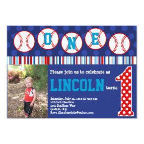 Baseball Birthday Invitation (1st Birthday)