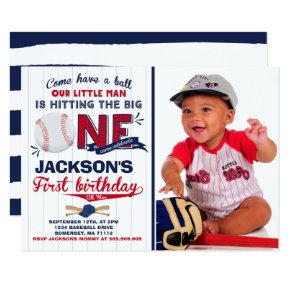 Baseball Birthday Invitations Baseball 1st Birthday