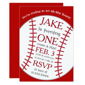 Baseball Birthday Invite- Special Bday Invitations