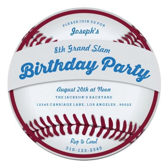 baseball birthday party invitations candied clouds