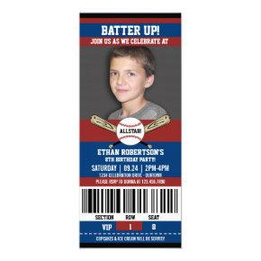 Baseball Birthday Photo Template