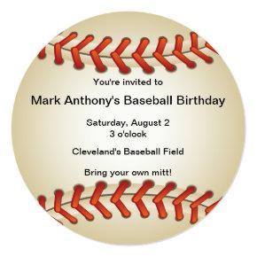 Baseball Bonanza Birthday Party Invitations