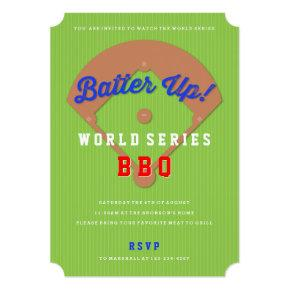 Baseball Diamond Sports Viewing Party Invitations