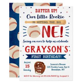 Baseball First Birthday