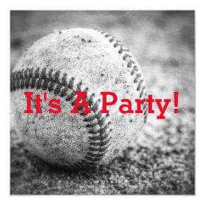 Baseball in Black and White Invitations