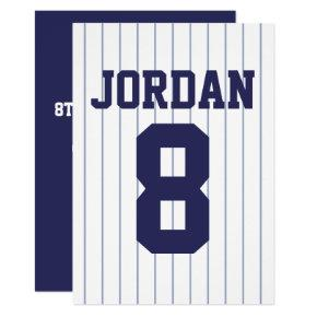 Baseball Jersey - Sports Theme Birthday Party Invitations