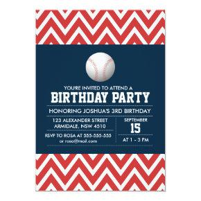 Baseball sport theme birthday boy party Invitations