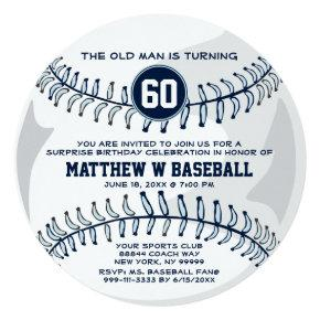 Baseball Surprise Funny Birthday Party Invitations