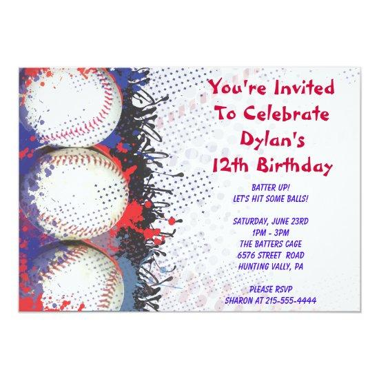 baseball themed invitations happy birthday party candied clouds