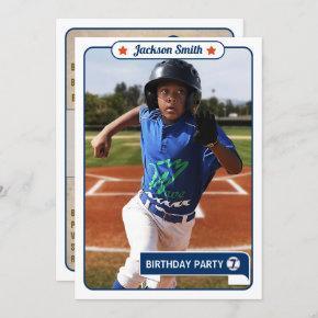 Baseball Trading  Birthday Invitation
