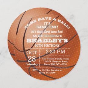 Basketball Any Age Birthday Invitation