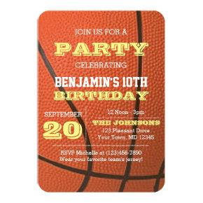 Basketball Birthday All Occasion Invitation