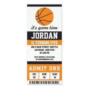 Basketball Birthday Invitation Birthday Party Boys
